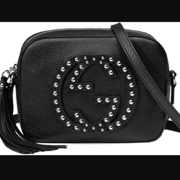 37e0824fb15 Gucci Handbags - Gucci studded Soho Disco